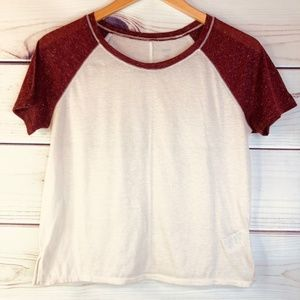 Urban Outfitters BDG Cropped Raglan Tee